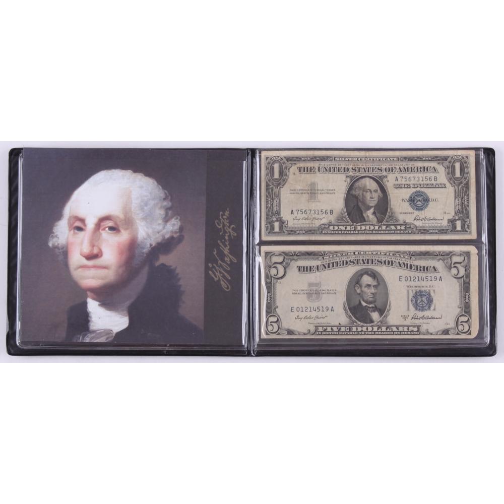 Silver Certificate Dollar Bill 1957 Blue Seal Best Design
