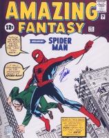 "Stan Lee Signed ""Amazing Fantasy"" Spiderman 16x20 Photo (Lee Hologram & FSC COA)"