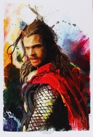 "Jason Oakes - ""Thor"" Signed Avengers Collection 13"" x 19"" Lithograph"