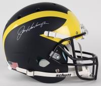 Jim Harbaugh Signed Michigan Wolverines Custom Matte Navy Blue Full-Size Helmet (PSA COA & TSE)