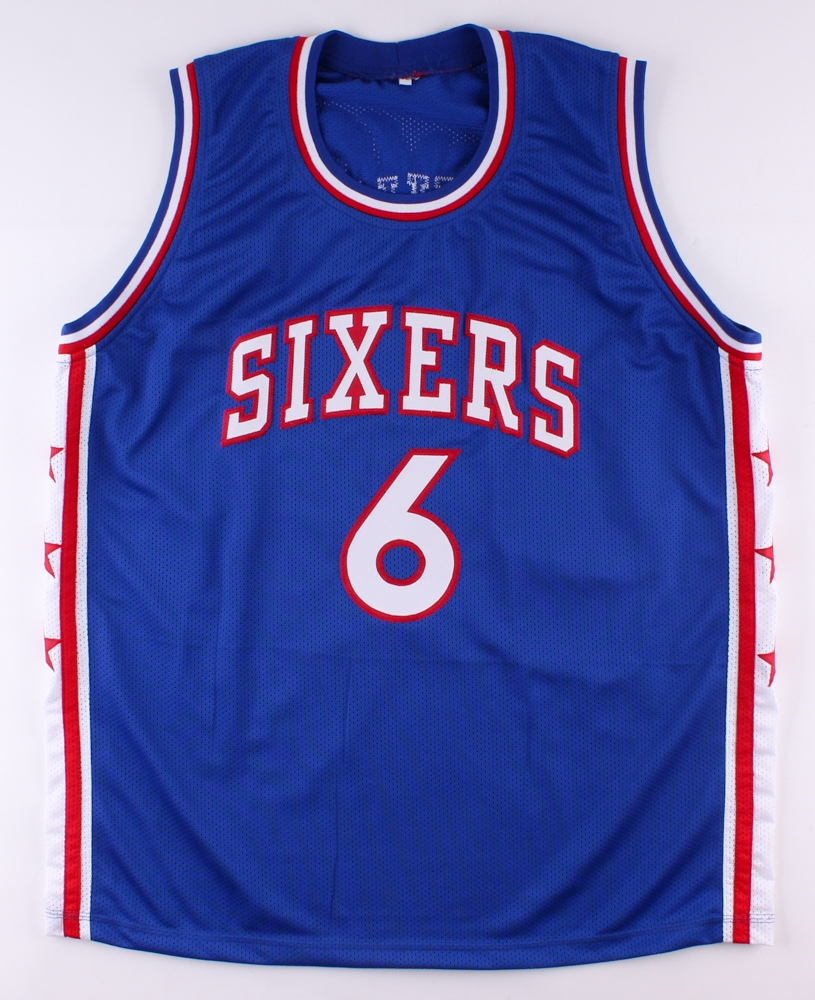 5c041081e ... Julius Erving Signed 76ers Jersey with Hand-Painted Portrait (JSA COA)  at PristineAuction NBA ...