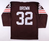 "Jim Brown Signed Browns Jersey Inscribed ""HOF 71"" (PSA LOA)"