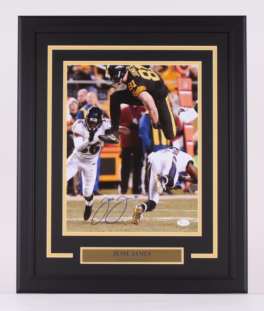 a582fcf9822 Jesse James Signed Steelers 18.5