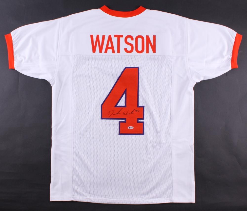 deshaun watson signed clemson jersey