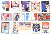 Lot of (14) Game-Used Memorabilia Relic & Autograph Insert Basketball Cards with Dwight Howard, Vince Carter, Amar'e Stoudemire, Jason Kidd, Karl Malone