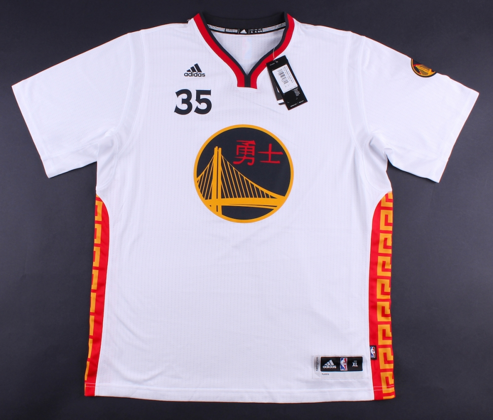 kevin durant signed warriors chinese new year adidas swingman jersey panini coa at pristineauction - Warriors Chinese New Year Jersey