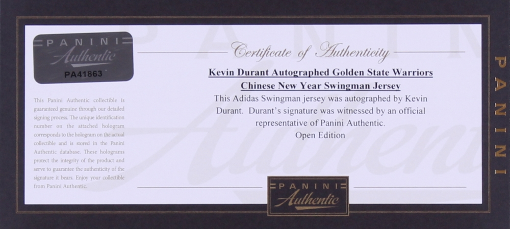 3b7f93494 Kevin Durant Signed Warriors Chinese New Year Adidas Swingman Jersey (Panini  COA) at PristineAuction