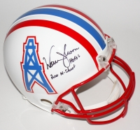 "Warren Moon Signed LE Oilers Full-Size Authentic Helmet Inscribed ""HOF 06"" & ""Run-N-Shoot"" (Steiner COA)"
