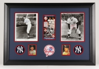 "Mickey Mantle and Roger Maris Signed Yankees 22"" x 31"" Custom Framed Photo Display Inscribed ""Best of Luck"" (JSA LOA)"
