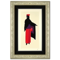 "Erte Signed ""Zsa Zsa"" Limited Edition 30x37 Custom Framed Serigraph"