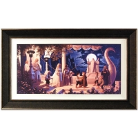 "Greg Hildebrandt Signed ""At The Grey Havens"" Limited Edition 26x44 Custom Framed Giclee on Canvas by The Brothers Hildebrandt"