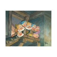 "Toby Bluth Signed ""Top of the Stairs"" Limited Edition 14x18 Giclee from Disney Fine Art #27/195"