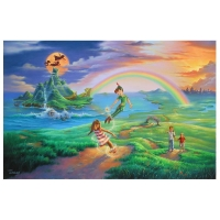 "Jim Warren Signed ""If Only you Believe"" Limited Edition 18x27 Giclee on Canvas Licensed by Disney Fine Art #46/195"