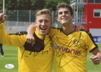 Christian Pulisic & Felix Passlack Signed Borussia Dortmund 8 x 10 Photo (JSA COA)