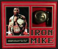 "Mike Tyson Signed ""Iron Mike"" 21x25x4 Custom Framed Ringside Bell Shadowbox Display (JSA)"