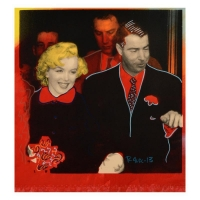 """Ringo Signed """"Mr. and Mrs. DiMaggio"""" 17x17 One-of-a-Kind Mixed Media Painting on Canvas at PristineAuction.com"""