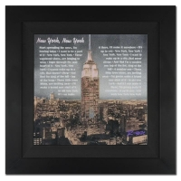"Ringo Signed ""New York, New York II"" 20x20 Custom Framed One-of-a-Kind Mixed Media Painting on Canvas at PristineAuction.com"
