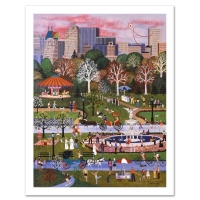 "Jane Wooster Scott Signed ""Springtime in Central Park"" Limited Edition 18x24 Lithograph at PristineAuction.com"