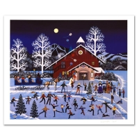 """Jane Wooster Scott Signed """"Moonlight Merriment"""" Limited Edition 19x21 Lithograph (PA LOA) at PristineAuction.com"""