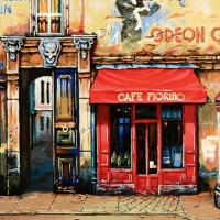"Alexander Borewko Signed ""Cafe Furino"" Limited Edition 17x19 Giclee at PristineAuction.com"