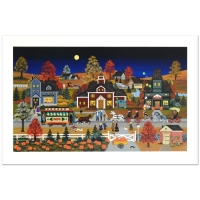 "Jane Wooster Scott Signed ""Autumn Reflection"" Limited Edition 22x38 Serigraph at PristineAuction.com"