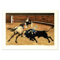 """Boyle Signed """"Bull Ring"""" LE 21x29 Lithograph at PristineAuction.com"""