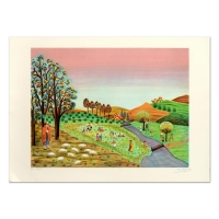 """Colagone Signed """"Le Borges"""" Limited Edition 21x29 Lithograph at PristineAuction.com"""