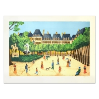 """Isabel Baillen Signed """"Place"""" Limited Edition 22x30 Lithograph"""