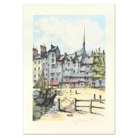 """Laurant Signed """"Honfleur"""" Limited Edition 21x29 Lithograph at PristineAuction.com"""