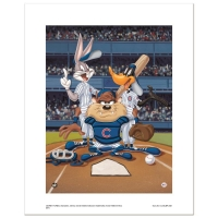 """At the Plate (Cubs)"" Numbered Limited Edition 16x20 Giclee from Warner Bros. at PristineAuction.com"