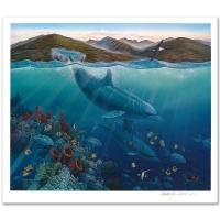 "Robert Lyn Nelson Signed ""Lahaina Sea Flight"" Limited Edition 27x31 Mixed Media (PA LOA) at PristineAuction.com"