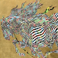"""Guillaume Azoulay Signed """"El Dorado"""" Limited Edition 17x21 Giclee on Canvas with Hand Laid Gold Leaf at PristineAuction.com"""