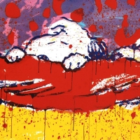 """Tom Everhart Signed """"Pig Out"""" Limited Edition 27x34 Hand Pulled Original Lithograph at PristineAuction.com"""