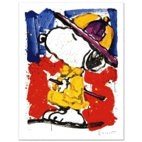 "Tom Everhart Signed ""Prada Puss"" Limited Edition 26x34 Hand Pulled Original Lithograph at PristineAuction.com"
