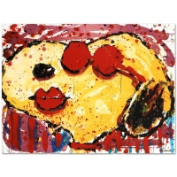 "Tom Everhart Signed ""Very Cool Dog Lips in Brentwood"" Limited Edition 22x30 Hand Pulled Original Lithograph at PristineAuction.com"
