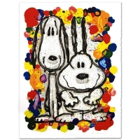 """Tom Everhart Signed """"Wait Watchers"""" Limited Edition 27x35 Hand Pulled Original Lithograph"""