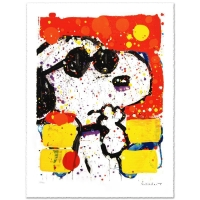 "Tom Everhart Signed ""Cool & Intelligent"" Limited Edition 26x35 Hand Pulled Original Lithograph at PristineAuction.com"