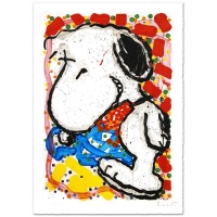 "Tom Everhart Signed ""Hip Hop Hound"" Limited Edition 30x47 Hand Pulled Original Lithograph"