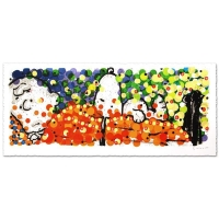 "Tom Everhart Signed ""Pillow Talk"" Limited Edition 25x58 Hand Pulled Original Lithograph"