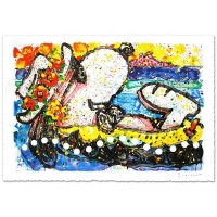 "Tom Everhart Signed ""Chillin"" Limited Edition 26x38 Hand Pulled Original Lithograph"
