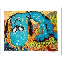 "Tom Everhart Signed ""Hollywood Hound Dog"" Limited Edition 28x36 Hand Pulled Original Lithograph"
