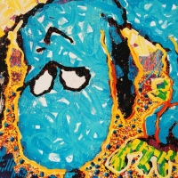 "Tom Everhart Signed ""Hollywood Hound Dog"" Limited Edition 28x36 Hand Pulled Original Lithograph at PristineAuction.com"