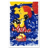 "Tom Everhart Signed ""1-800 My Hair is Pulled Too Tight"" Limited Edition 27x42 Hand Pulled Original Lithograph"