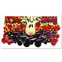 "Tom Everhart Signed ""Calmly Insane In My Nest"" Limited Edition 27x52 Hand Pulled Original Lithograph"