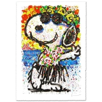 "Tom Everhart Signed ""Boom Shaka Laka Laka"" Limited Edition 25x38 Hand Pulled Original Lithograph"