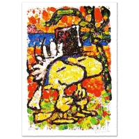 "Tom Everhart Signd ""Hitched"" Limited Edition 26x39 Hand Pulled Original Lithograph"