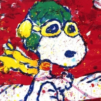 """Tom Everhart Signed """"Low Fat Meal Over Santa Monica"""" Limited Edition 28x37 Hand Pulled Original Lithograph at PristineAuction.com"""