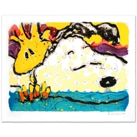 "Tom Everhart Signed ""Bora Bora Boogie Bored"" Limited Edition 28x35 Hand Pulled Original Lithograph"