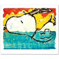 "Tom Everhart Signed ""Bora Bora Boogie Oogie"" Limited Edition 28x35 Hand Pulled Original Lithograph at PristineAuction.com"