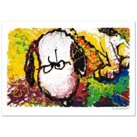 "Tom Everhart Signed ""Are You Talking to Me?"" Limited Edition 22x36 Hand Pulled Original Lithograph"